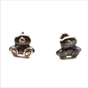 Adorable tiny teddy bear child stud earrings